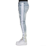 Ombre Distressed Denim (Indigo) /C8