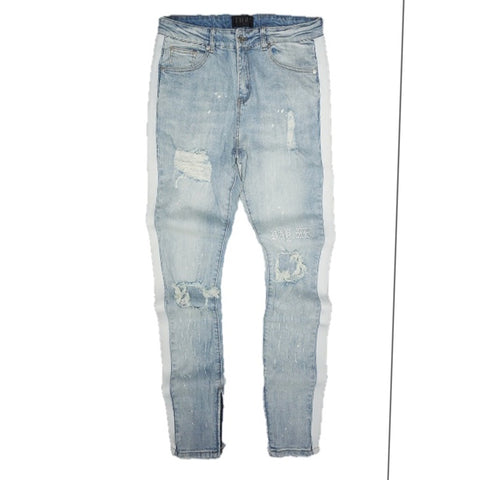 Distressed Pay Me Denim (Light Wash) /C