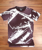 Rise As 1ne- Bleach Splatter Extended Tee (Maroon)