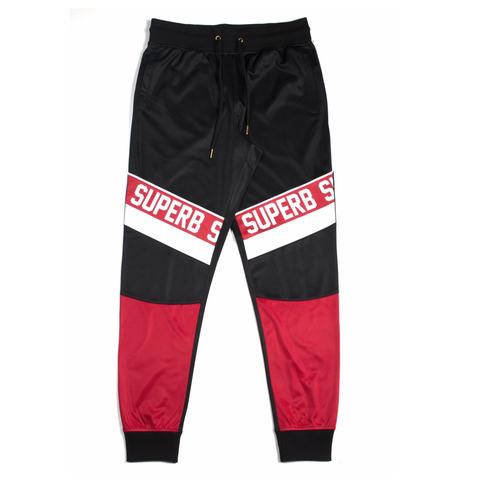 Superb Track Pants (Blk/Red/Wte) /D3
