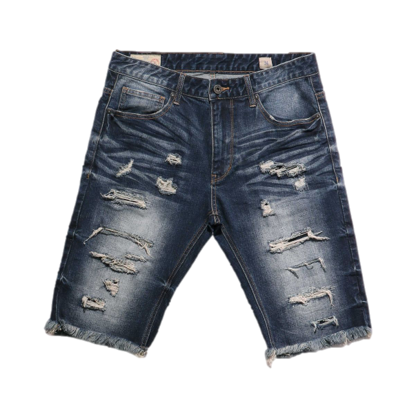 Distressed Rip Off Shorts (Valley Blue) /C2