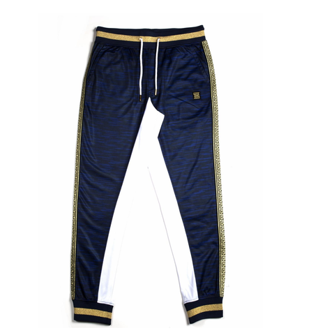 Gold Trim Track Pants (Navy/Gold) /C8