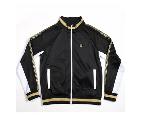 Gold Trim Track Jacket (Black/Gold)
