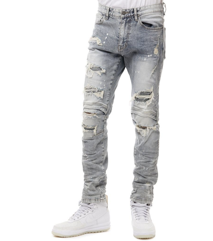Distressed Engineered Denim (Taffy Blue) /C6