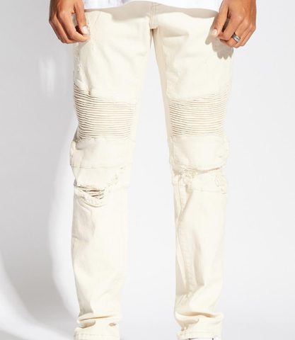 Skywalker Biker Denim (Cream) / C1