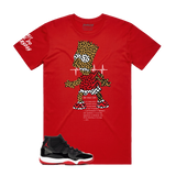 Bart Puzzled Tee (Red) /D11