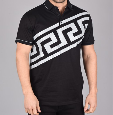 Reflective Applique Polo (Black)