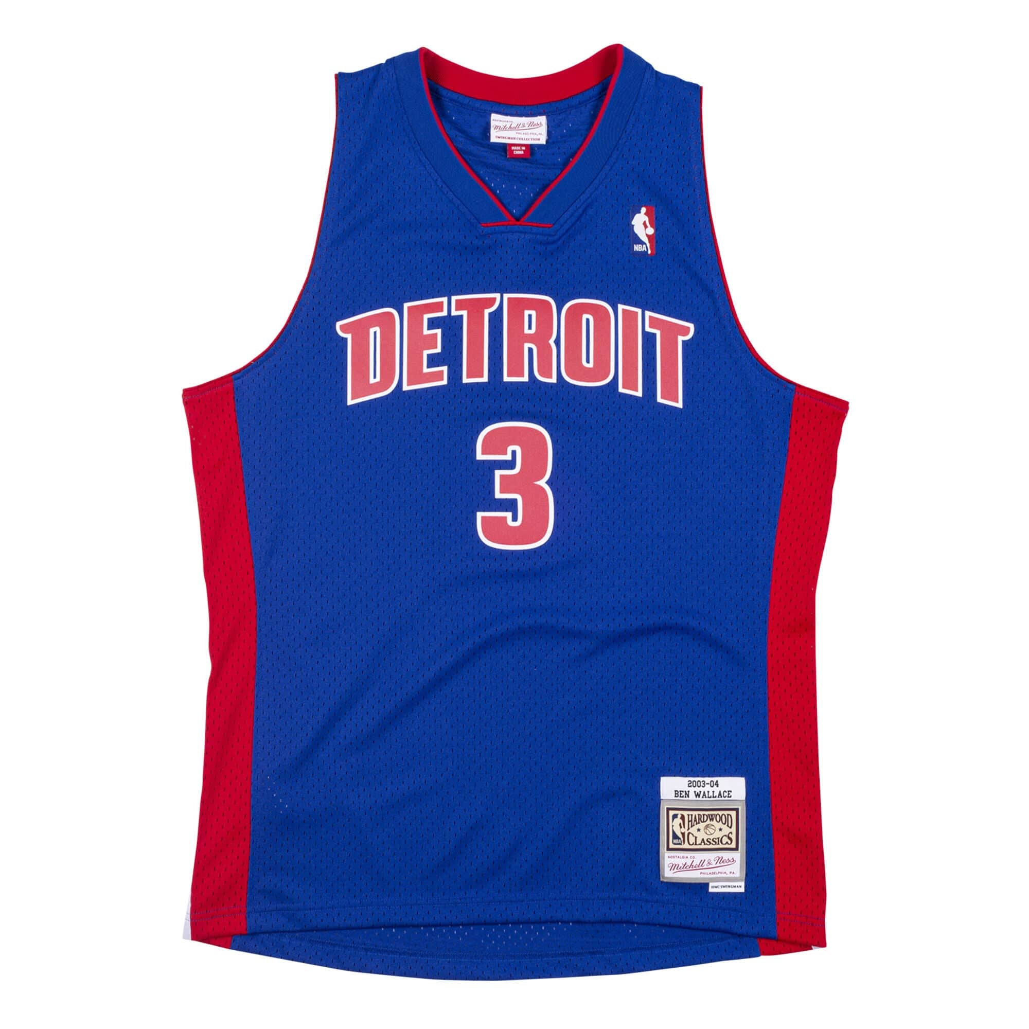 NBA Detroit Pistons Swingman Jersey Ben Wallace (Royal) /D12