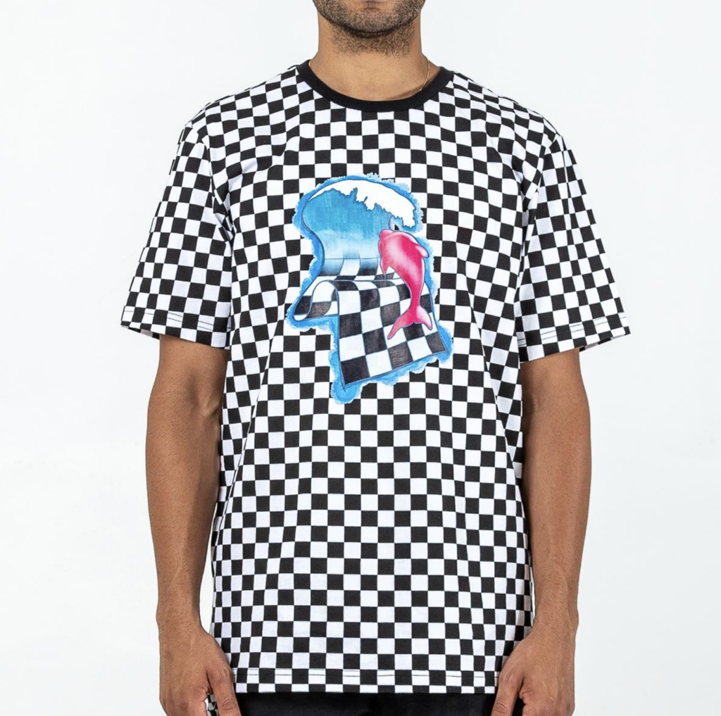 Flag Checkered Tee (Black)