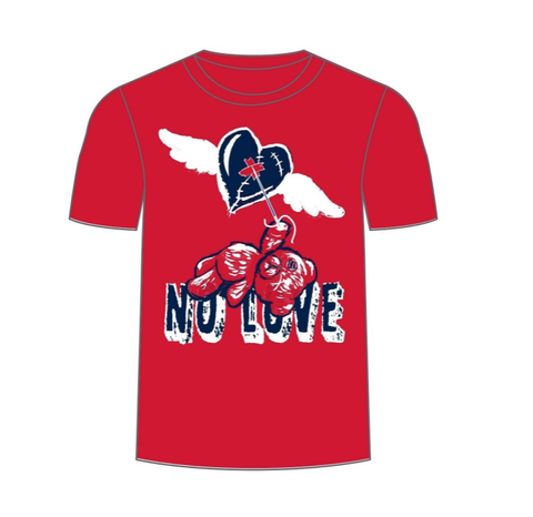 No Love SS Tee (Red/Navy) /D12