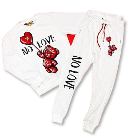No Love Fleece Set (White) / D16