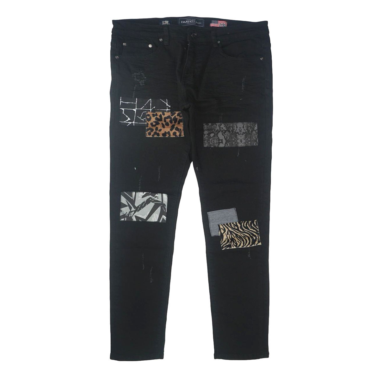 Da Vinci Patchwork Premium Stretch Denim (Balack) /C7