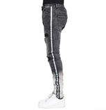 Ombre Distressed Denim (Black) /C8