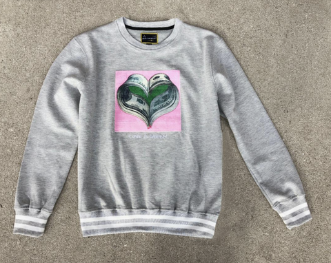 Money Heart Crewneck (H.Gray) /D