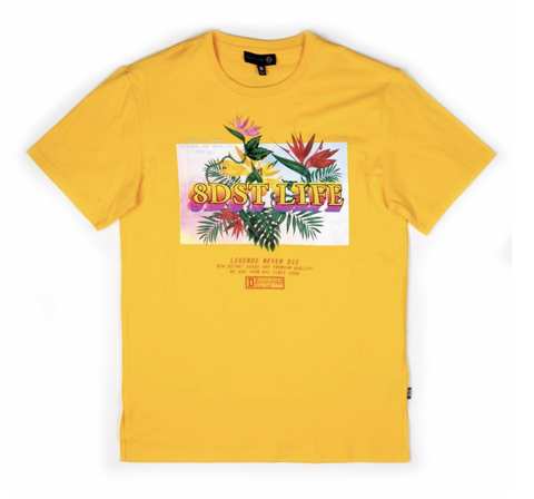 Floral Life Smear Tee (Yellow) /D17