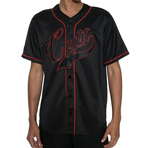 Cult Baseball Jersey (Black) / D8