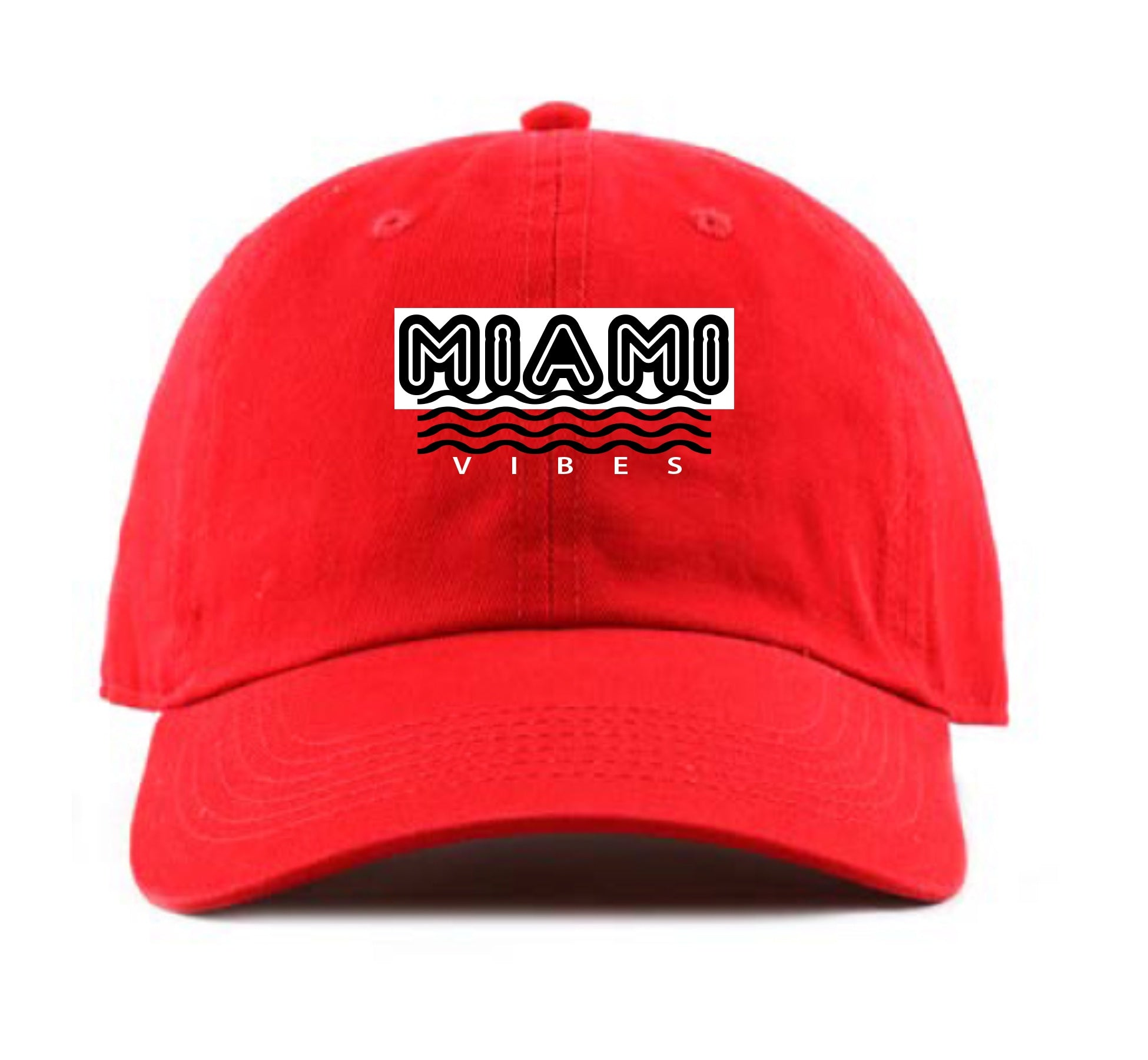 Miami Vibes Dad Hat (Red)