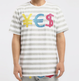 Stoned Stripe Currency Shirt (H. Grey) / D3