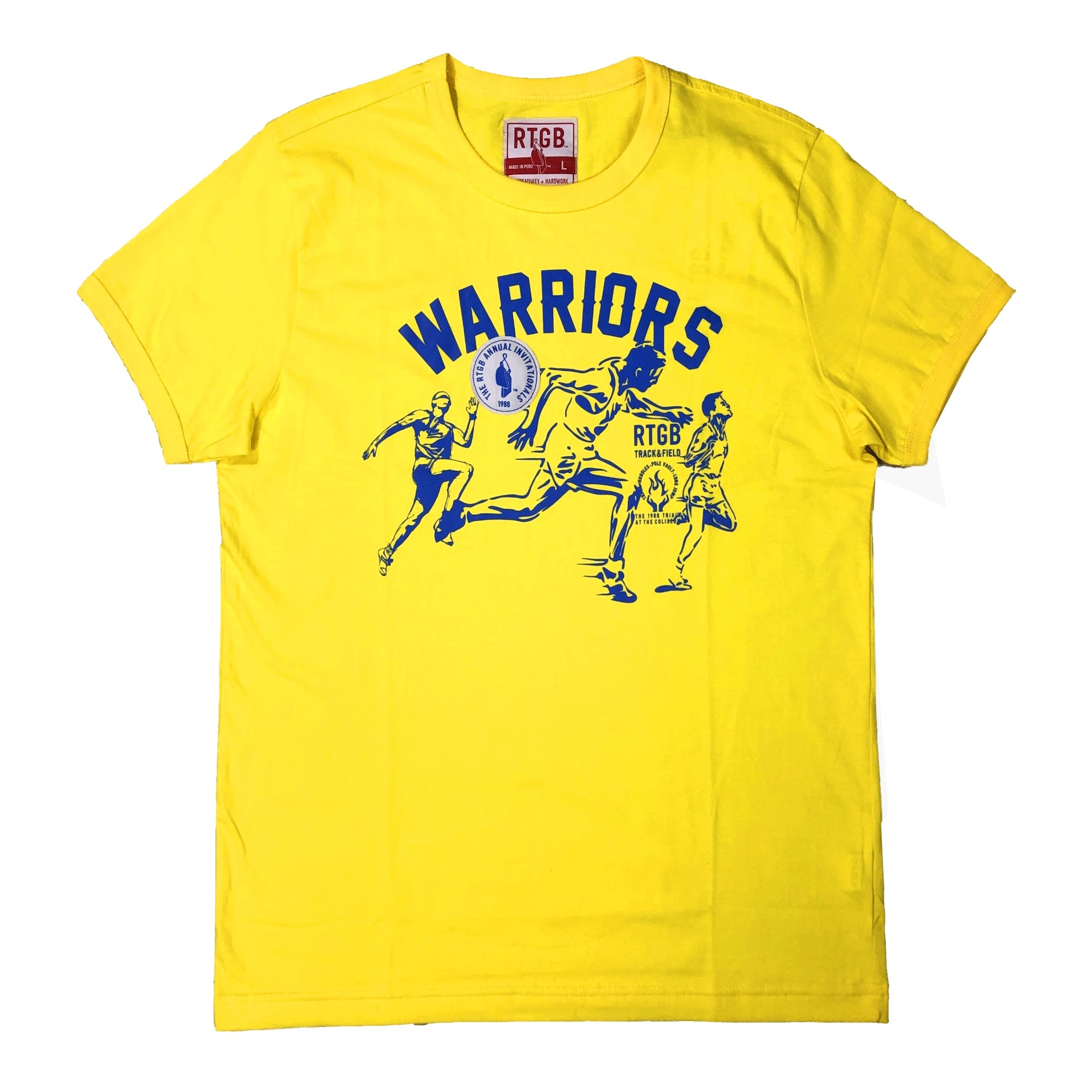 Warriors Track & Field Tee (Yellow) / D14