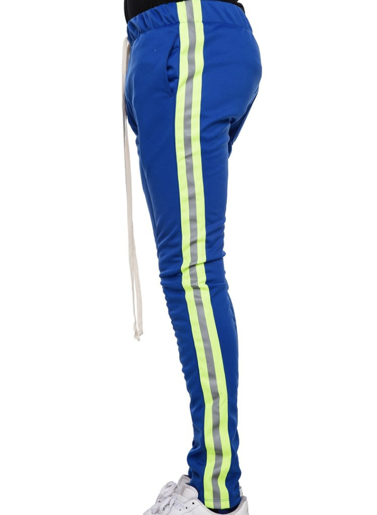 Reflective Track Pants (Blue/Neon Green) / C8