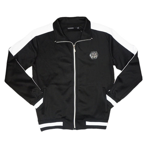 H Striped Tracked Jacket (Black/Wte)