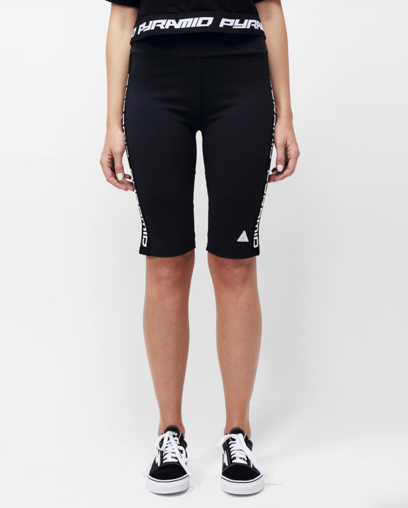 Wmn Side Logo Tape Biker Shorts (Black) / MD2