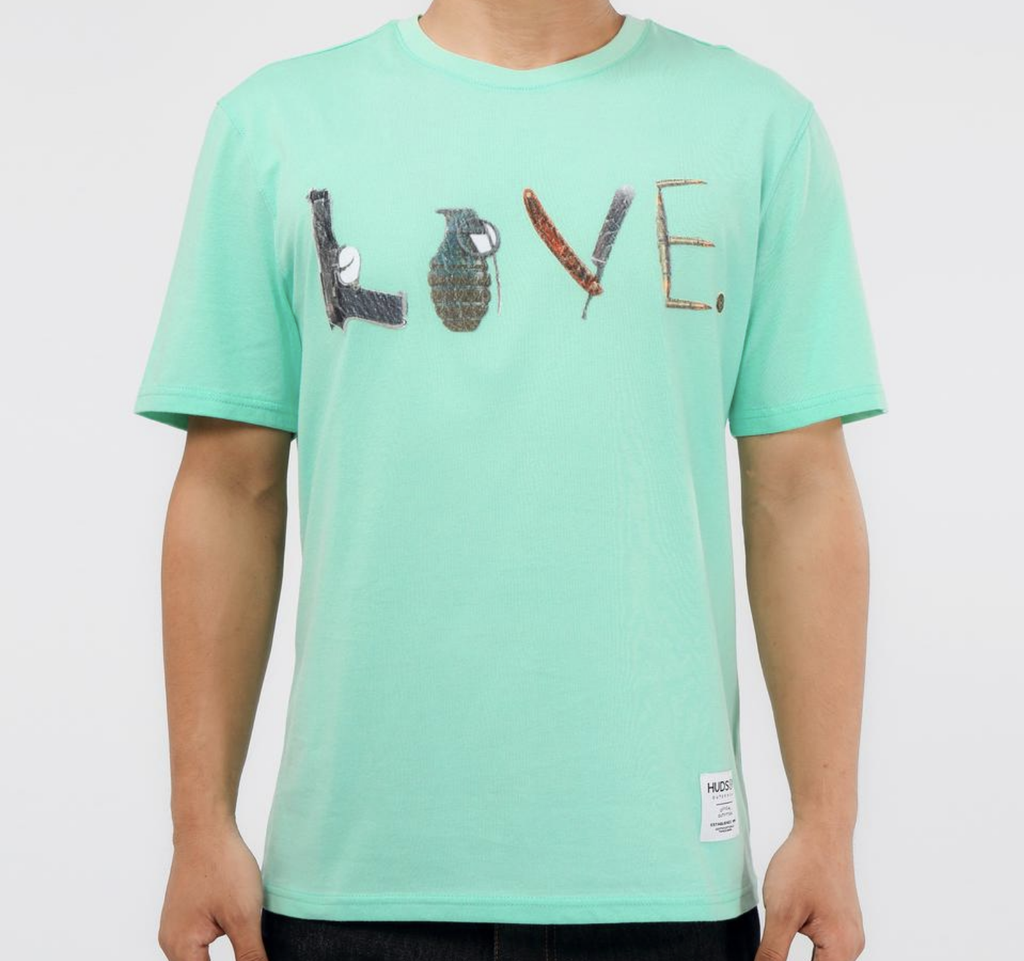 Weapons Or Love Tee (Sea Green) /D4