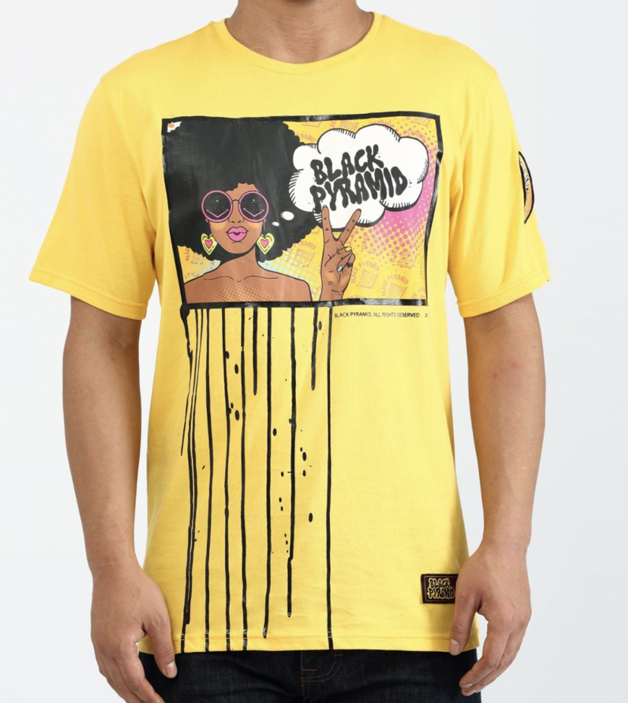 Hippy Drip Tee (Yellow) / D2