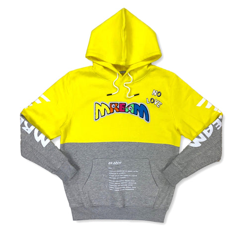 Mream Chenille Color Block Hoodie (Yellow/Grey)