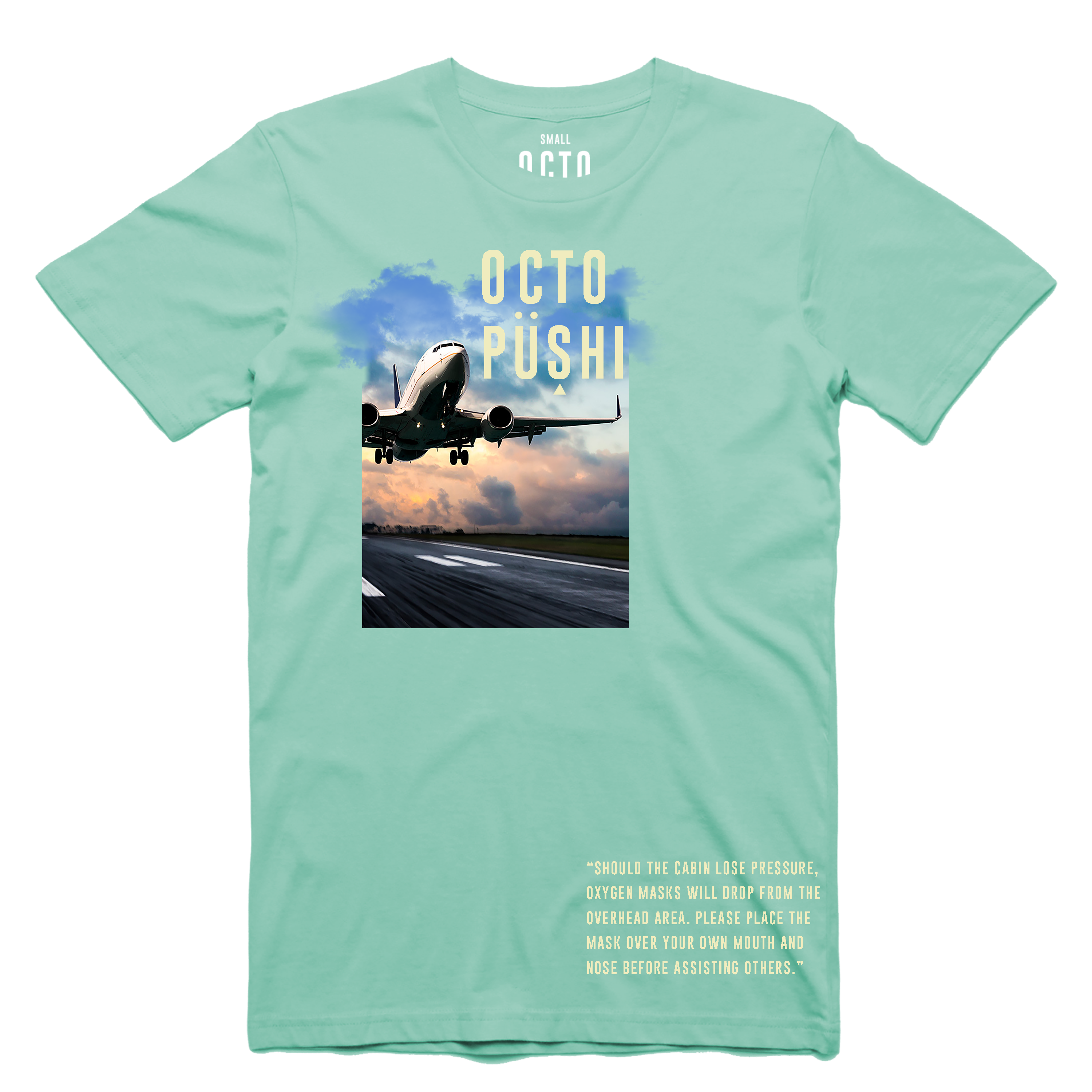 Airplane Take Off Tee (Mint) /D7