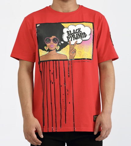 Hippy Drip Tee (Red) / D2