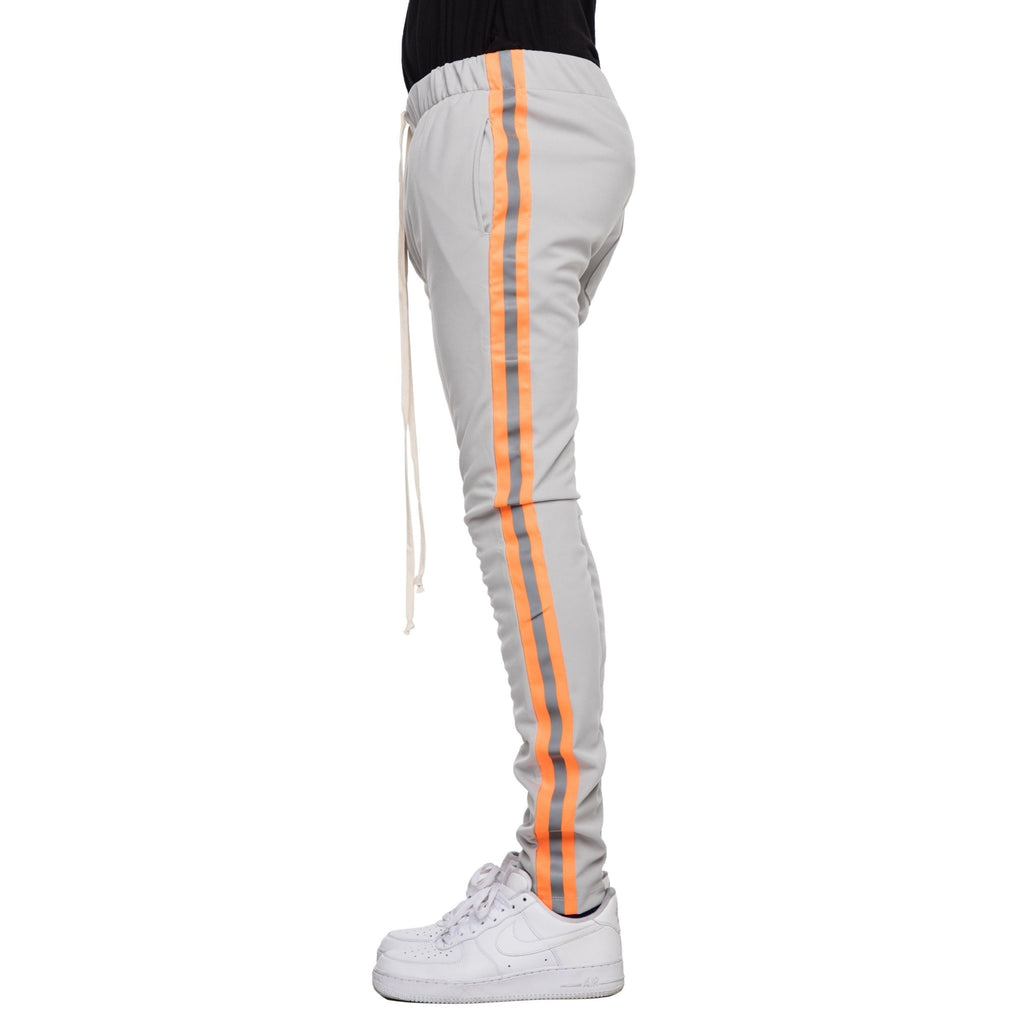 Reflective Track Pants (Silver/N. Orange) / D15