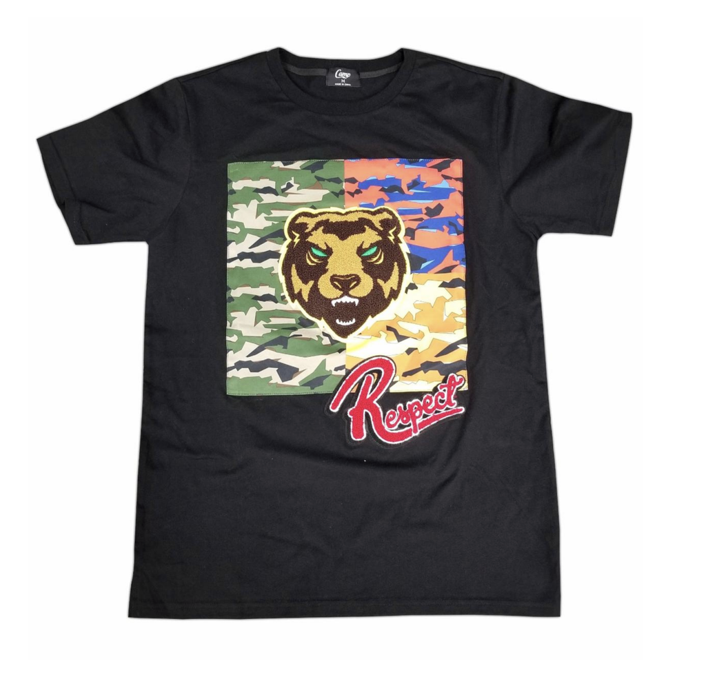 Bear Camo Patch Tee (Black) /D15