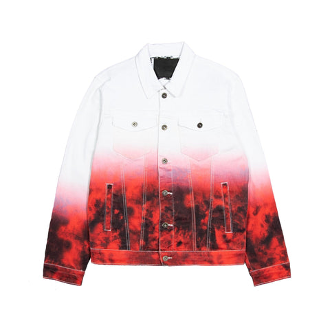 Silent Tie-Dye Denim Jacket (White)