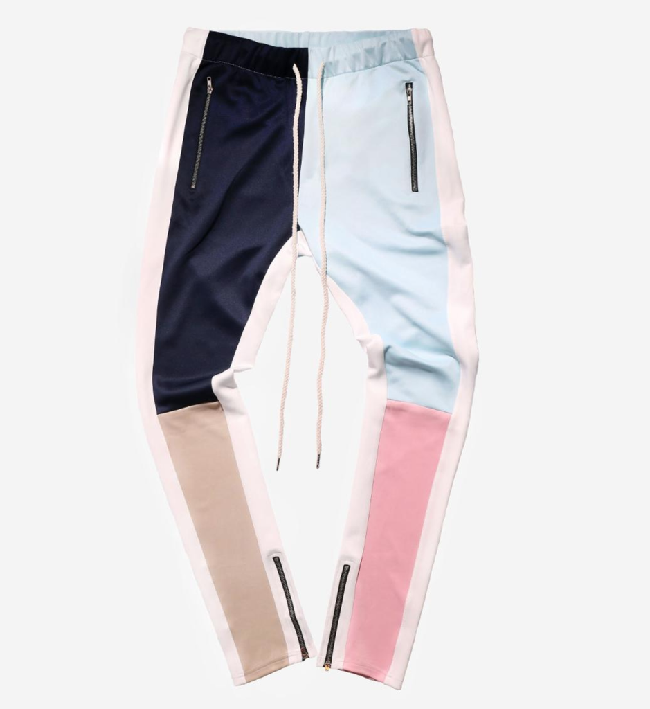 Color Block Track Pants (Blush) /  D3