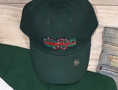 Snake Stripe Dad Hat (Green)