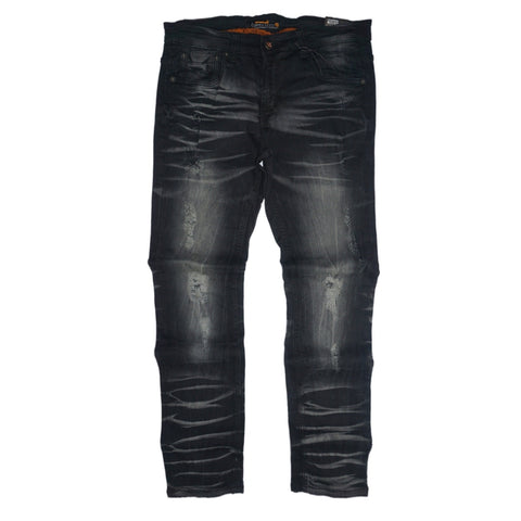 Bleached Wash Denim (Black) /C5