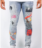 Cabana Printed Denim (Light Wash) /C7