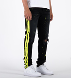 The Union Andre Stripe Denim (Black) /C1