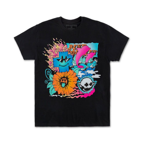 Collage Tee (Black/Multi)