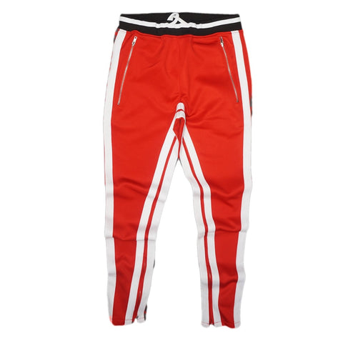 Double Striped Track Pants V2 (Red/Wte)