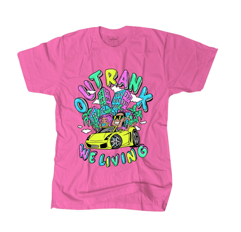 We Living Tee (Safety Pink) /D15