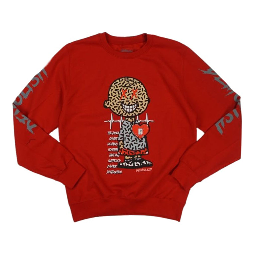 Charlie Puzzled Crew (Red/Grey) /D13