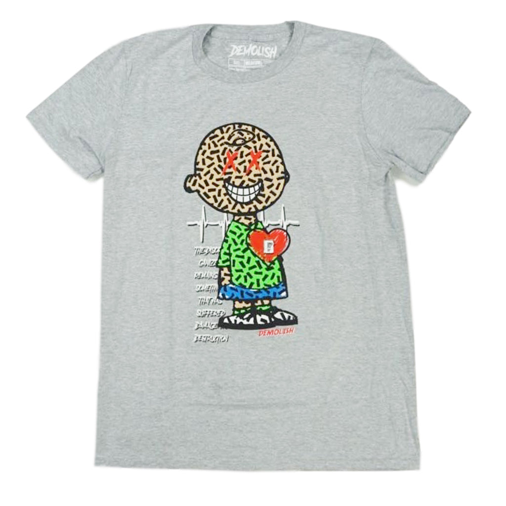 Neon Charlie Puzzled Tee (Grey) /D13