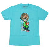 Neon Charlie Puzzled Tee (Pool Blue) /D13