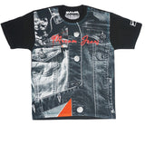 Contrast Denim On Denim Tee (Black) /D18