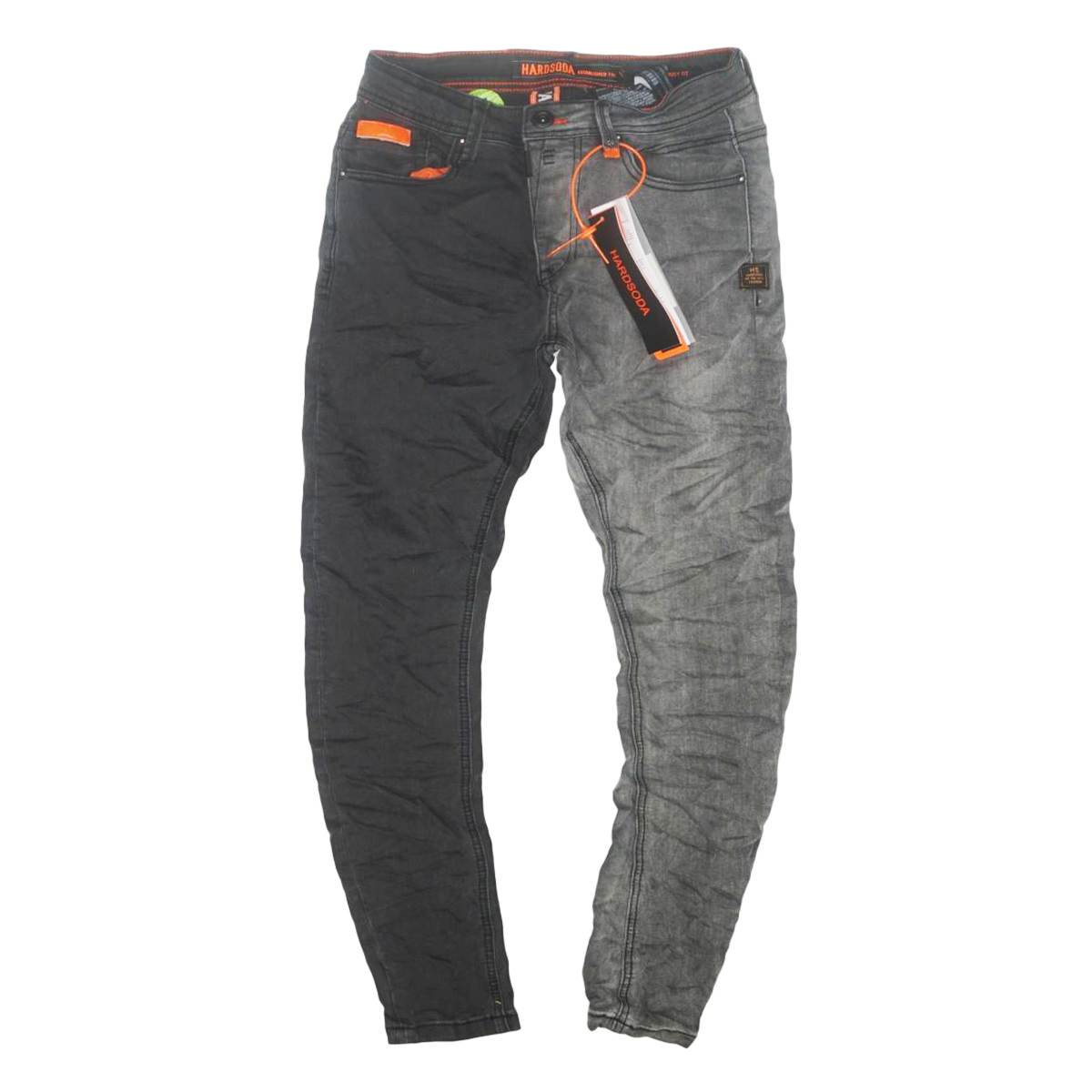 2Face Black Wash Denim (Grey) /C1
