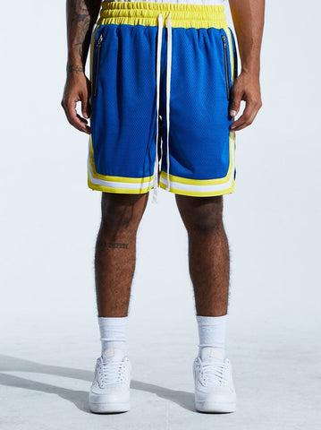Basketball Mesh Shorts Warriors (Blue/Yellow) /D17