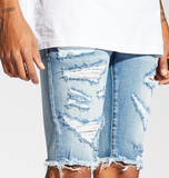 Atlantic Distressed Shorts (Blue) / C5