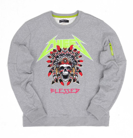 Chiefs Blessed Crewneck (Heather Grey) /D6